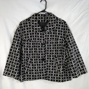 New Directions XL Jacket Black White Circles 293